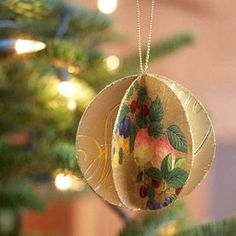 Image result for sphere made with christmas cards