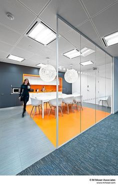 Black / White / Orange Office Design