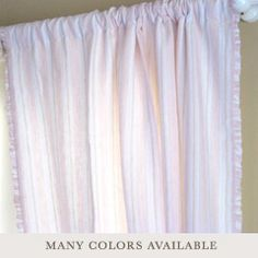 Pom Pom at Home Curtain Panel Mystic Linen @Layla Grayce #laylagrayce #baby