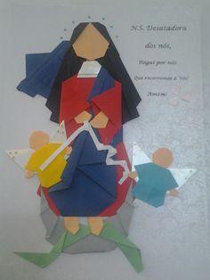Origami para quadros. Santos de devoção.