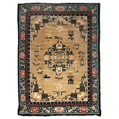 Antique Chinese Peking rug | From a unique collection of antique and modern chinese and east asian rugs at https://www.1stdibs.com/furniture/rugs-carpets/chinese-rugs/