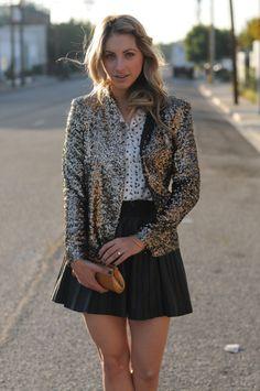 sequin blazer & skirt