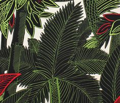Bahia Palm Trees Natural/Multi, Alexander Henry