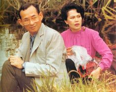 His Majesty King Bhumibol Adulyadej and Her Majesty Queen Sirikit of the Kingdom of Thailand