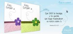 """#tarjeta de felicitación #felizcumpleaños que """"Dios te bendiga"""