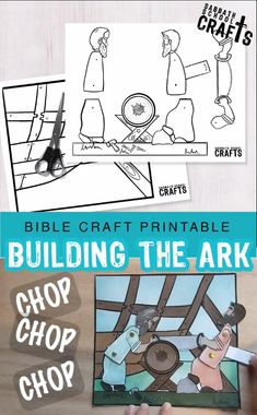 Children will LOVE this fun Bible craft! Use this craft to talk about Noah's obedience as he built the ark for 120 years! And his son's obedience as they helped him for just as long. This FREE craft comes with an outlined version and a colored in version. Toddler Sunday School, Kids Sunday School Lessons, Sunday School Crafts For Kids, Bible School Crafts, Sunday School Activities, Bible Activities For Kids, Bible Crafts For Kids, Bible Lessons For Kids, Scriptures For Kids