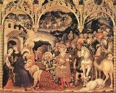 Adoration of the Magi (detail) - Gentile, da Fabriano - Medieval & Gothic Art - Tempera - New Testament - TerminArtors