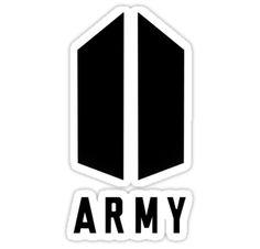 BTS stickers featuring millions of original designs created by independent artists. Pop Stickers, Printable Stickers, Army Wallpaper, Bts Wallpaper, Bts Jimin, Bts Army Logo, Bts Tattoos, Kpop Diy, Bts Birthdays