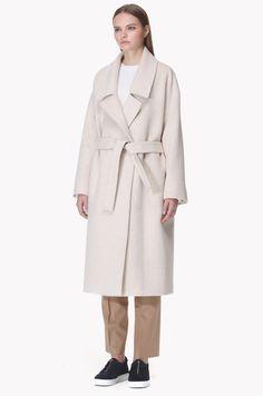 Wool blend drop shoulder oversized coat
