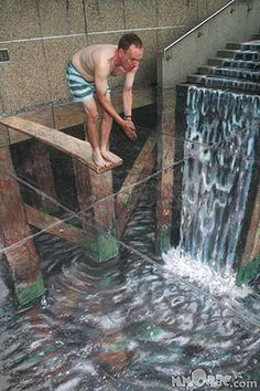 Amazing Art Collection Street Art embroidery on canvas; make a design with rope and cover with embroidery thread street art s. 3d Street Art, 3d Street Painting, Amazing Street Art, Street Art Graffiti, 3d Painting, Graffiti Artists, Illusion Kunst, Illusion Art, Illusion Paintings