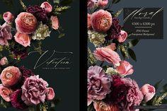 Velveteen Moody Floral Clip Art Graphics Collection – Avalon Rose Design Rose Design, Vintage Inspired, Clip Art, Graphic Design, Floral, Inspiration, Biblical Inspiration, Florals, Flower