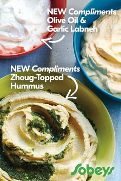 Take a dive into flavour with our NEW Compliments Hummus and Labneh Yogourt-Based Dips. Choose from 8 varieties that each offer a unique flavour experience. Creamed Onions, Salty Snacks, Fresh Bread, Fresh Fruits And Vegetables, Afternoon Snacks, Learn To Cook, Vegan Dishes, Hummus, Compliments