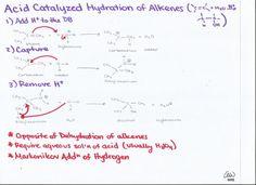 Acid-Catalyzed Hydration of Alkenes