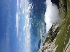 Venture up to Mount Pilatus in Switzerland and get a beautiful view of the alps!