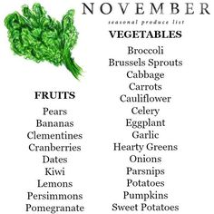 Finally, I'm sharing November's seasonal produce list for the best eating week of the year  Head to my site for the full list + a downloadable version. I'll be posting my favorite recipes for Thanksgiving all week on Facebook too - be sure to follow along! Yummery - best recipes. Follow Us! #thanksgivingrecipes