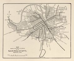 This is a 1913 map of the Nashville Interurban Electric Streetcar routes that went from Nashville to Franklin,Tenn.it ran from 1889 to 1941 and was one of the largest in the South.