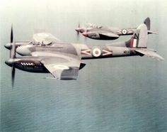 de Havilland Hornet out of Hong Kong and over the South China Sea in the Ww2 Aircraft, Fighter Aircraft, Military Aircraft, Fighter Jets, De Havilland Mosquito, Engin, Ww2 Planes, Royal Air Force, Hornet