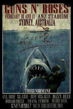 Guns N' Roses NotInThisLifeTime Tour-Sydney, 10 e 11 Febbraio 2017