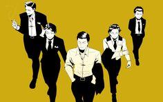 The Waynes - Jason, Dick, Bruce, Tim and Damian