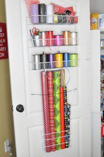 She's crafty: Gift Wrap organizer
