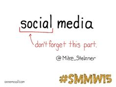 What really drives social media. #smmw15 annemccoll.com