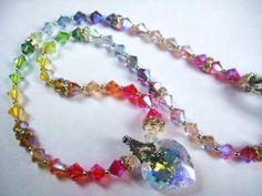 Swarovski Crystal Heart Pendant Multicolor Necklace in Sterling Silver https://www.etsy.com/listing/34403837/crystal-heart-pendant-multicolor?ref=shop_home_active