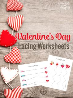 My daughter loves these Valentine's day tracking worksheets and your preschooler will as well, a great fine motor activity for little ones.
