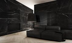 """black marble cabbagerose: """" Black marble interiors by Tamizo architects. Interior Architecture, Interior And Exterior, Interior Design, Design Interiors, Luxury Home Decor, Luxury Homes, Tamizo Architects, Marble Interior, Living Spaces"""