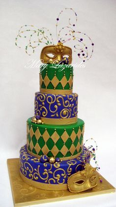 293 best Mardi Gras - Cakes images on Pinterest | Mardi gras party ...