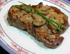Uma mordida perfeita: Steak Diane Flambé - Receitas para rivalizar Desafio
