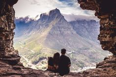 Travel couple, photography, Cave, lions head, cape town, South Africa