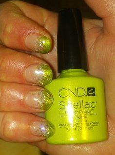Limeade Shellac nails