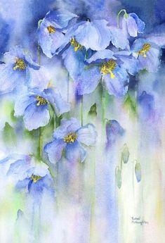 Mini Gallery Watercolour Painting by Rachel McNaughton