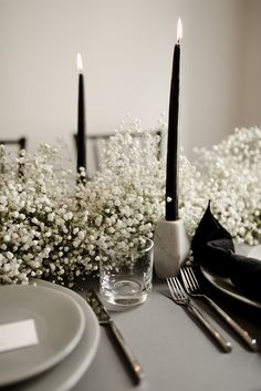 Simple Shopping Wedding Centerpieces Ideas: Quick Products In Fun Wedding Flower Decorating - Some Insights - Anstely Gets Wed Black And White Wedding Theme, Black Wedding Decor, Modern Wedding Ideas, Contemporary Wedding Decor, All Black Party, Elegant Winter Wedding, Magical Wedding, Wedding Themes, Wedding Pictures