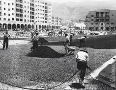 La reurbanización de El Silencio en construcción (1945)