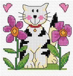 Σχέδια με γάτες για κέντημα / Cat cross stitch patterns
