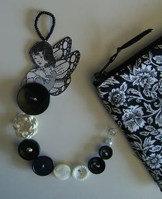 another black and white button fairy by Inoteboom on flickr