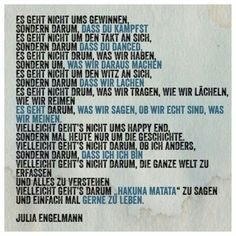 Julia Engelmann Very Inspirational Quotes, German Quotes, Something To Remember, Truth Of Life, Magic Words, My Poetry, True Words, True Quotes, Cool Words