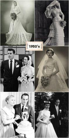 #vintage robes de mariées 1950
