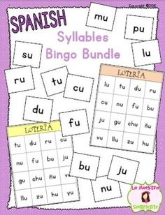 Syllables Bingo Game Bundle (Spanish): Help your students read syllables in isolation with these fun bingo games! $