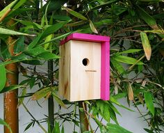 Welcome The Wings This Spring With These 15 DIY Bird Feeders Diy modernes Vogelhaus Bird House Plans Free, Bird House Kits, Bird Feeder Plans, Diy Bird Feeder, Modern Bird Feeders, Palm Springs, Modern Birdhouses, Contemporary Birdhouses, Tin Can Flowers