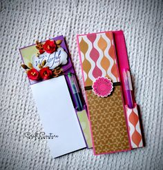 Magnetic Notepads...for all those grocery and shopping lists...! Stick'em on your refrigerator and get going...