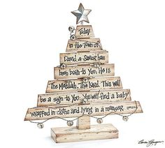 Decorative Wood Christmas Tree with Scripture