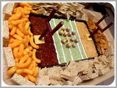 Super Football Party Foods - it's a dip, appetizer, snacks, all in one. It's a SNACKADIUM!