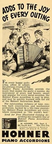1936 Ad Hohner Piano Accordions Catalog New York City Original Advertising | eBay