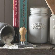 The Kilner Ceramic Storage Jars bring vintage chic to your food storage. With earthy pastel tones, these matte finish Kilner jars include an airtight seal. Utensil Storage, Glass Storage Jars, Jar Storage, Storage Containers, Food Storage, Kilner Jars, Mason Jars, Kitchen Jars