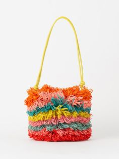 Crochet Accessories, Bag Accessories, My Bags, Purses And Bags, Tapestry Crochet Patterns, Crochet Handbags, Knitted Bags, Crochet Crafts, Handmade Bags