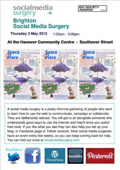 Hanover Social Media Surgery at the Space Place May 2012 Absolute Advantage, Comparative Advantage, Opportunity Cost, Free Advice, Space Place, Brighton And Hove, Economics, Surgery, Action