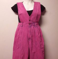Vintage 80's HOT Pink  Hand Dyed Denim High by GypsysTreasureCove
