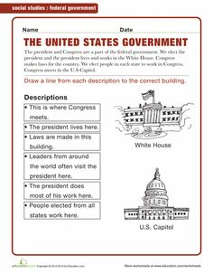 Branches of Government: Crossword Puzzle Worksheet | Hot ...